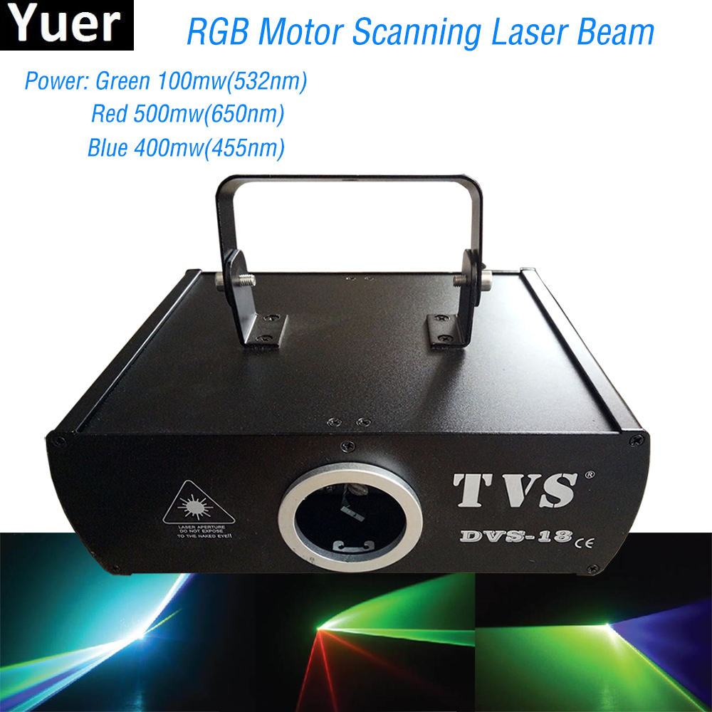 2019 New RGB Multi Color Scanning Laser Beam Stage Light Dmx512 Laser Beam Animation Scan DJ