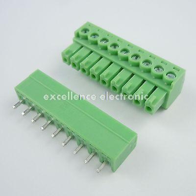 ФОТО 50 Pcs 3.81mm Pitch 9 Pin Straight Screw Pluggable Terminal Block Plug Connector 15EDG