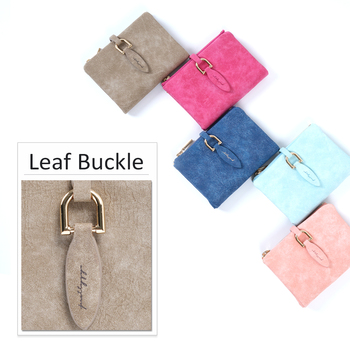 2017 Fashion Women Short Purses PU Leather Female Wallet Perse Card Holder Coin Money Bag Soft Dollar Price Ladies Wallet Small