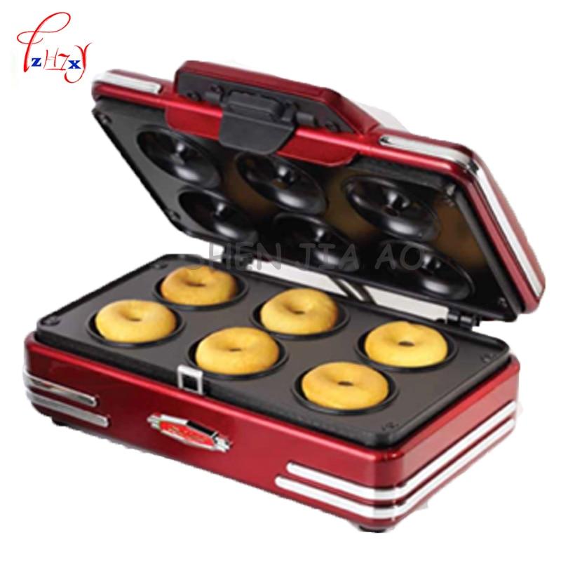 electric home mini donut machine small breakfast machine donuts waffle machine baking tools 220V 750W 1PC household mini waffle machine diy breakfast machine baking tools cake machine electric waffle machine 220v 750w rmdm200