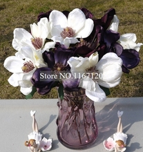 Buy silk magnolia flowers and get free shipping on aliexpress free shipping10pcslot factory sale artificial silk magnolia flower silk flowers wedding home mightylinksfo Image collections