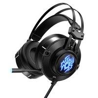 Jogo G20 Headphone7.1 Canal Virtual com Vibração Dual Chip de Som Subwoofer de Graves Fone de Ouvido Fone de Ouvido com Microfone para PC Gamer Fones de ouvido     -