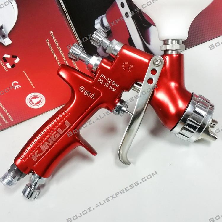 Professionale GFG Aria pistola a spruzzo della vernice per auto del corpo HVLP 1.3mm dipinta ad alta efficienza/pistola a spruzzo GTI spruzzatore strumenti di disegno