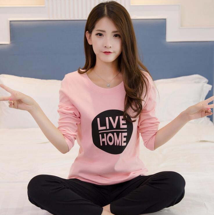 8c5448df211 Dropwow Fashion Women Pajamas Set Household Clothing Set Autumn ...