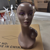 Mannequins Model ABS Abstract Female Mannequin Training Head For Wig Hat Jewelry Scarf Display Model Head Wig Stand Head