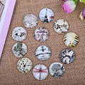 50pcs handmade jewelry cameo glass cabochon 12mm diy flatback round bike butterfly flower dragonfly photo