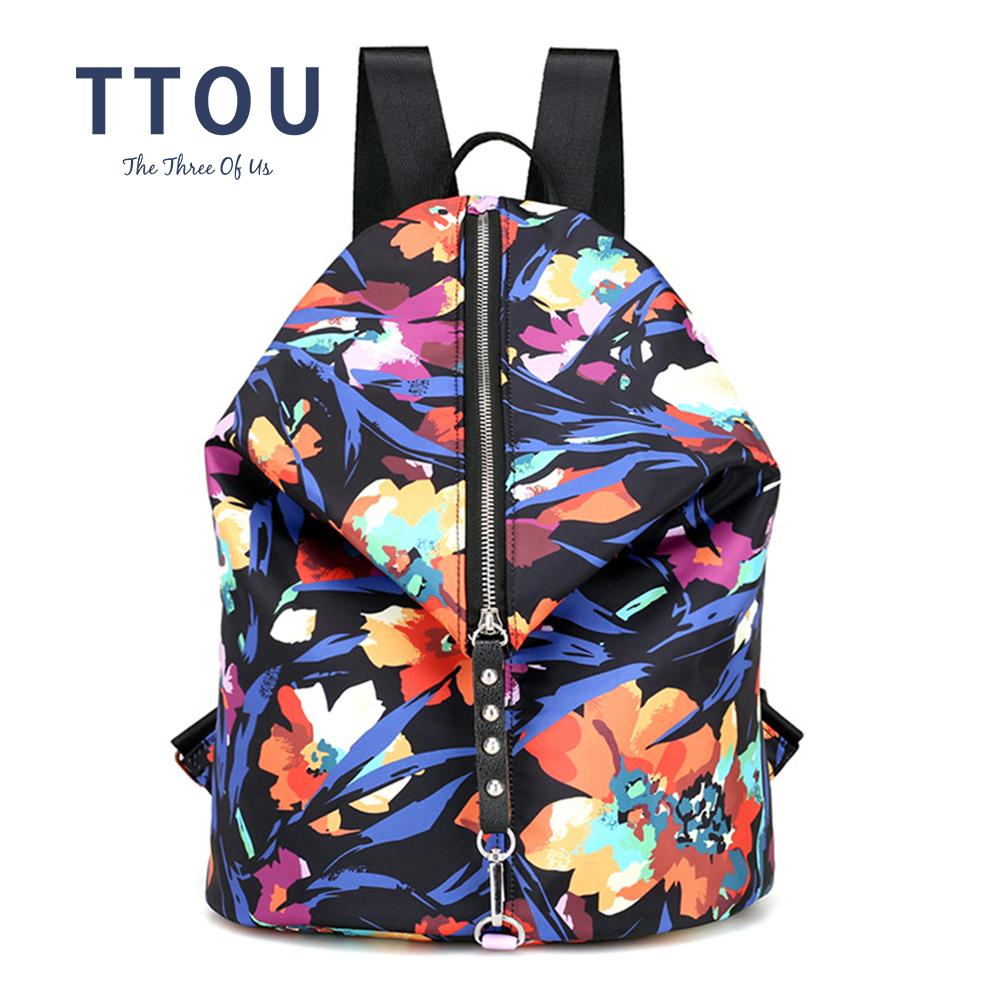 Aliexpress.com   Buy TTOU Women Fashion Backpacks Floral Rivet Backpack  Female School Bag For Teenagers Girls Travel Bags Mochilas from Reliable  Backpacks ... 920ef0b78d805