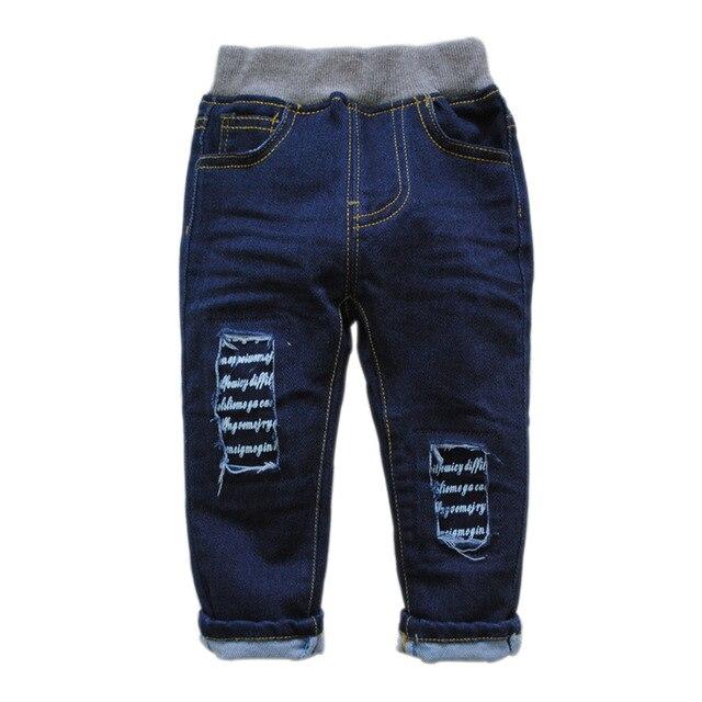6180 ДЕТСКИЕ джинсы мальчиков джинсы весна и осень МАЛЬЧИК и девочки ДЖИНСОВЫЕ БРЮКИ мода новая СТИРАЛЬНАЯ НЕ УВЯДАЕТ ОТВЕРСТИЕ ТЕМНО-СИНИЙ