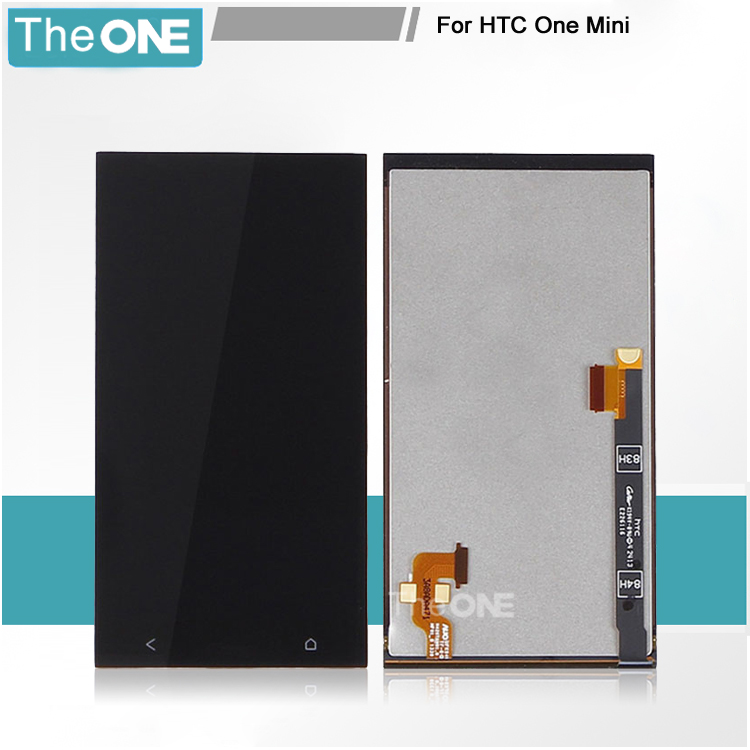 Full LCD Display Touch Screen Digitize Assembly For HTC One Mini / M4 / 601e 601s 601n Replacement Parts with LOGO Free Shipping for htc one mini lcd 601e m4 lcd display with touch screen digitizer assembly free shipping 100