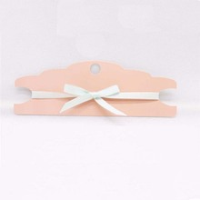 New Design 20pcs 22.8*7.5cm 300GSM paper Pink/Kraft/White Hair Clip&band Card Jewelry Display free shipping