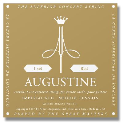 Augustine Imperial Red Medium Tension Classical Guitar Strings augustine classic blue high tension classical guitar strings