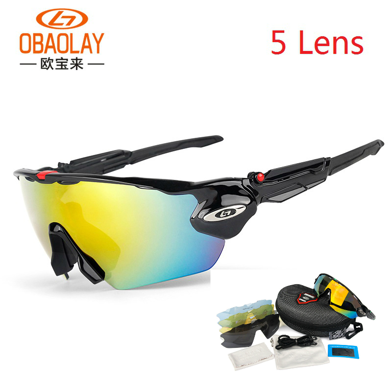 Black Mens Polarized Sunglasses Outdoor sports Eyewear cool Cycling Bike Glasses