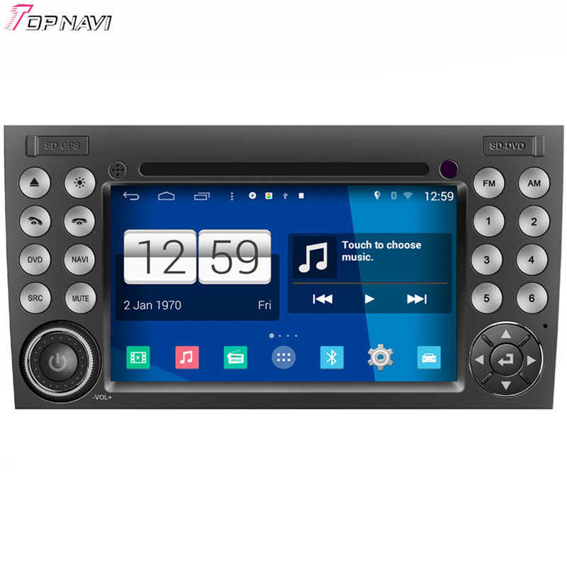 Top Free Shipping 7'' Quad Core S160 Android 4.4 Car DVD GPS For SLK class For BENZ With Stereo Radio Mirror Link BT Wifi Audio