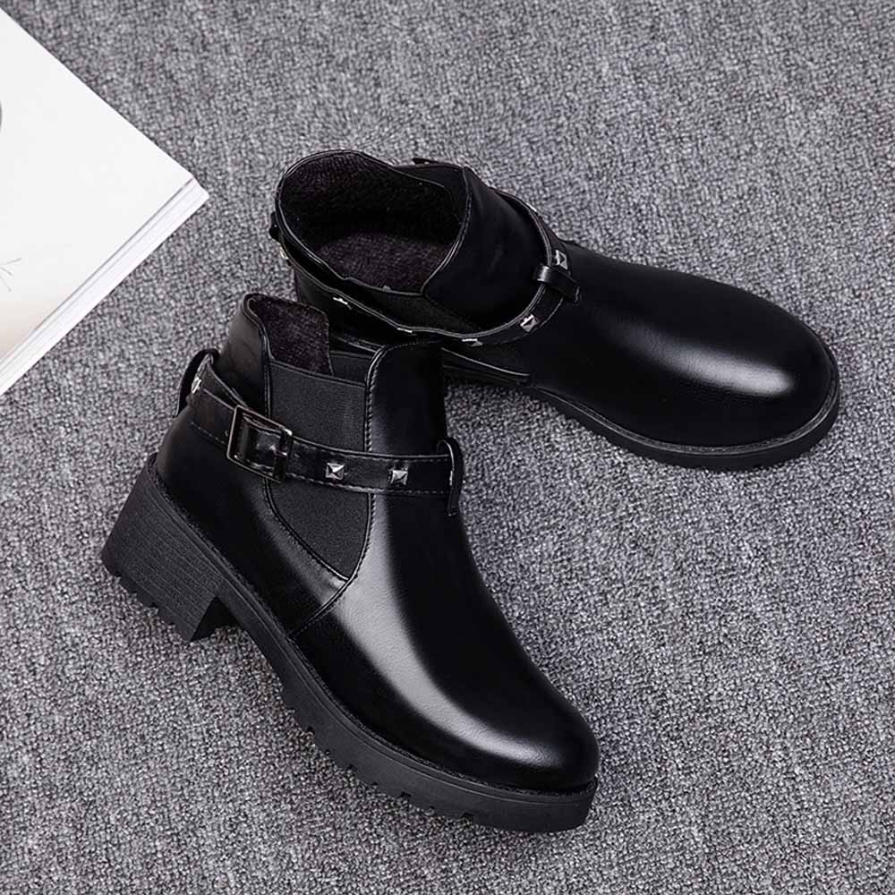 Aliexpress.com   Buy Retro Belt Buckle Rivet Martin s Female Motorcycle  With Ankle botas mujer  20180924 from Reliable Ankle Boots suppliers on  Ladybabag ... b0fd3a900324
