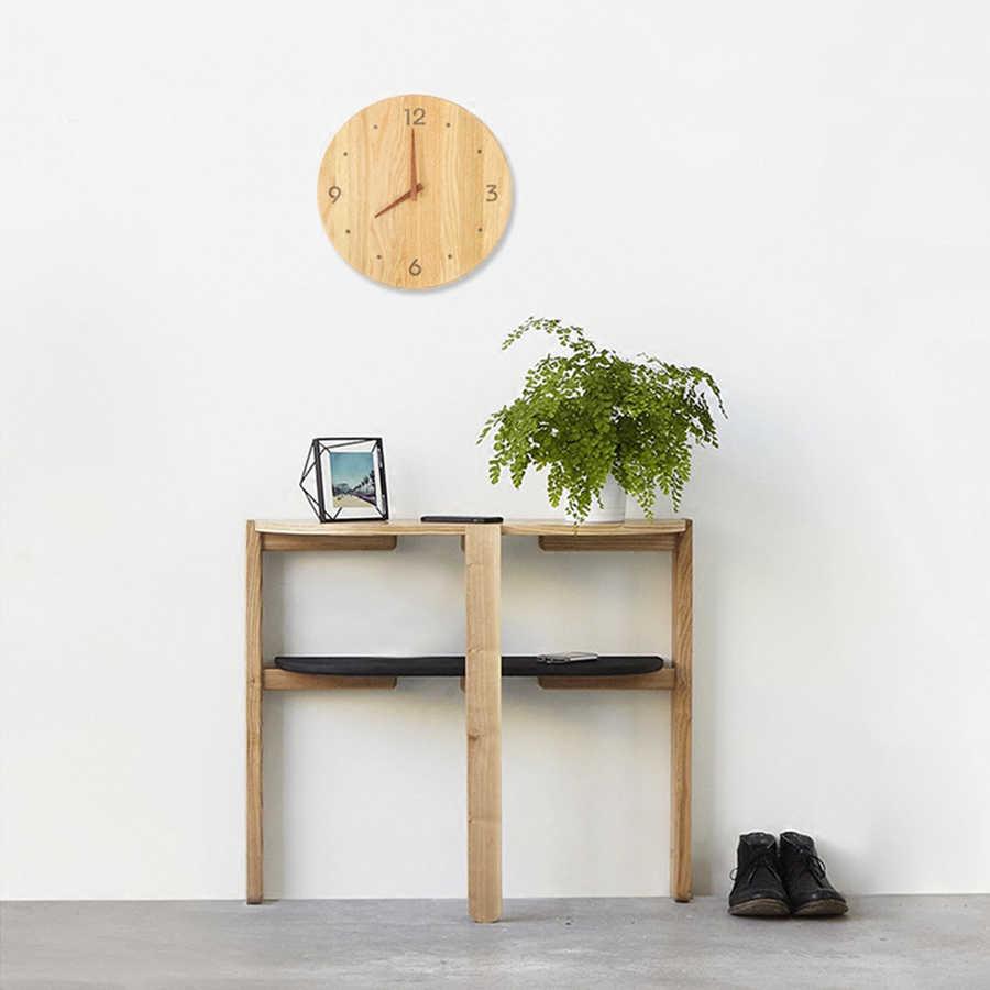 Reloj de pared de diseño moderno de cocina de madera Vintage relojes de Muted Marco de reloj de pared para el hogar klock productos más vendidos de 2018 56