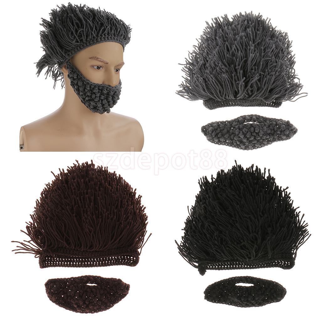 Kids Knitting Hat Beanie with Wind Mask Beard Hat Cap Cosplay Costume c5031aa98c5