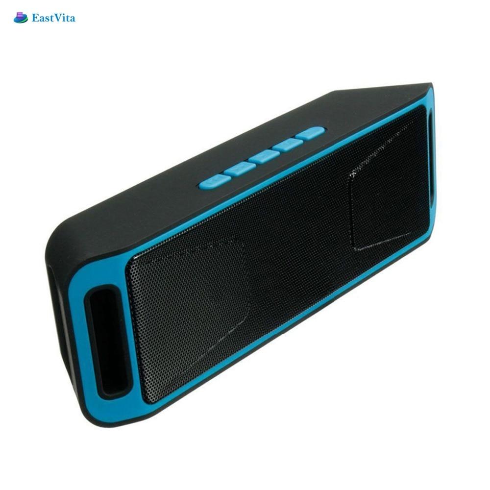 EastVita Drahtlose Bluetooth Lautsprecher High-fidelity Bass Sound FM Radio USB Mic tf-karte Funktion Stereo Subwoofer Dual-lautsprecher