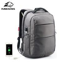 Kingsons External Charging USB Multi Function Laptop Backpack Anti Theft Man Business Dayback Women Travel Bag