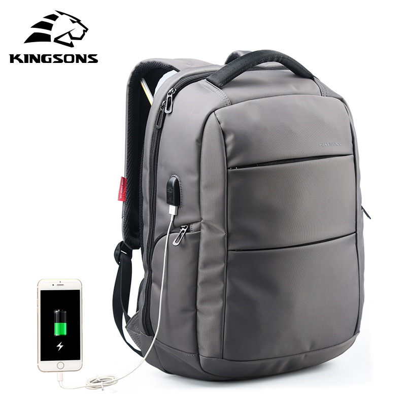 Kingsons External Charging USB Multi Function Laptop Backpack Anti-theft Man Business Dayback Women Travel Bag 15.6 inch kingsons external charging usb function school backpack anti theft boy s girl s dayback women travel bag 15 6 inch 2017 new