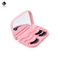 Mode Niedlich Schleife Falsche Wimpern Aufbewahrungsbox Make-Up Spiegel Fall Kosmetische Werkzeuge Gefälschte Wimpern Kit Werkzeuge Acryl Kit A140