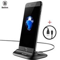 Baseus Of Sync Data Charging Dock Station For Mobile Phone Lightning Desktop Docking USB Cable Charger