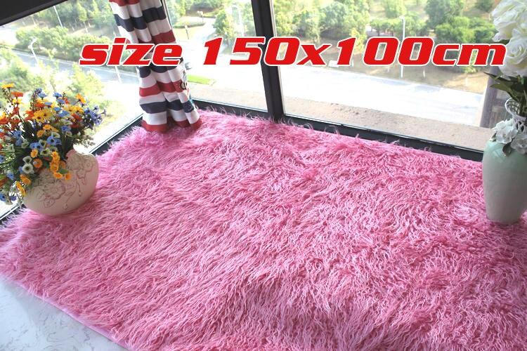 Shaggy fausse fourrure tapis chambre tapis tapis tapis fenêtre tapis 150x100 cm livraison gratuite