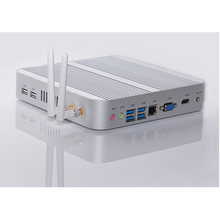Windows 10 Mini pc i7 5550U Barebone HTPC Intel Nuc Fanless Computer Broadwell Graphics HD 5500 300M Wifi 4K pc Free Shipping
