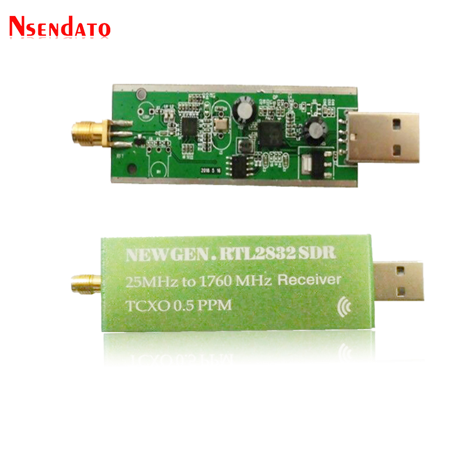 USB 2.0 RTL SDR 0.5 PPM TCXO RTL2832U R820T2 25MHZ To 1760MHZ TV Tuner Receiver AM FM NFM DSB LSB SW Radio SDR TV Receiver Stick