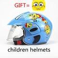 Милые детские Мотокросс Мотоциклетный Шлем Зима Теплая Удобная Мото Защитные Шлемы Для Детей костюм для 3-9years старый