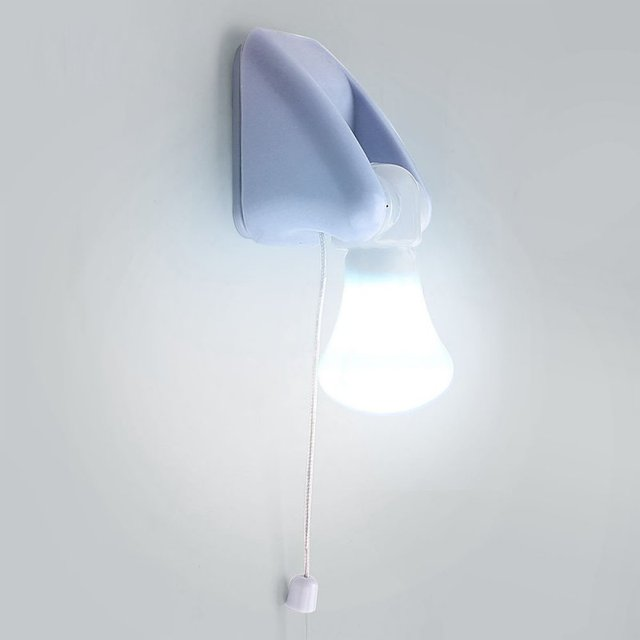 Wire LED Bulb Portable Cabinet Lamp Night Light Battery Self ...