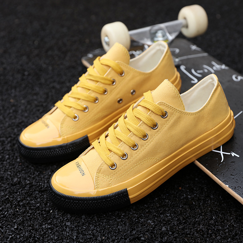 Toile Lacent Mode À Classique Arrivée De Respirant Marche jaune Appartements rouge Jeunes Sneakers Hommes Noir La Nouvelle 2019 blanc Marque Casual Chaussures nfCBB