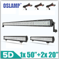 "Oslamp 5D Sistema Combo LED Light Bar 2x210 W 20 ""+ 1x480 W 50"" Offroad Led Bar 12 v 24 v del Carro SUV ATV Barra de Luz de Conducción 4X4 Pick-Up"