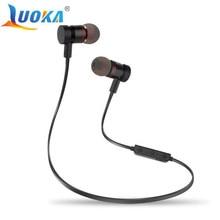 Bluetooth наушники luoka M9 Беспроводной вкладыши Шум снижение наушники с микрофоном устойчивое стерео гарнитура bluetooth