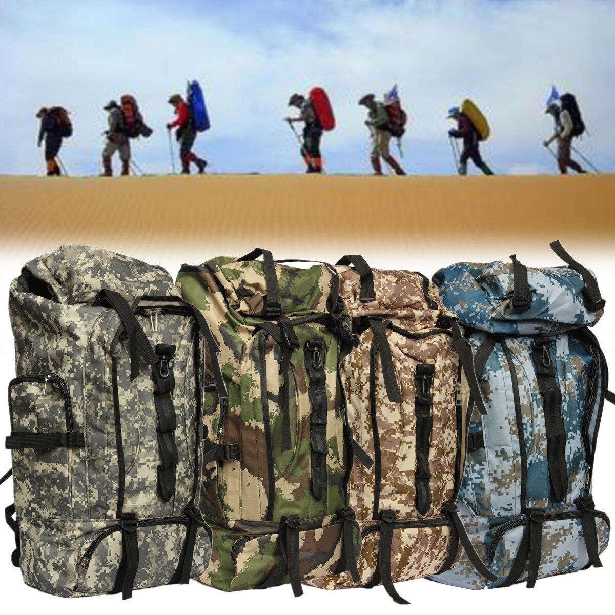 80L grande capacité sac à dos en plein air militaire armée tactique sac à dos Trekking voyage Camouflage sac à dos sacs d'escalade