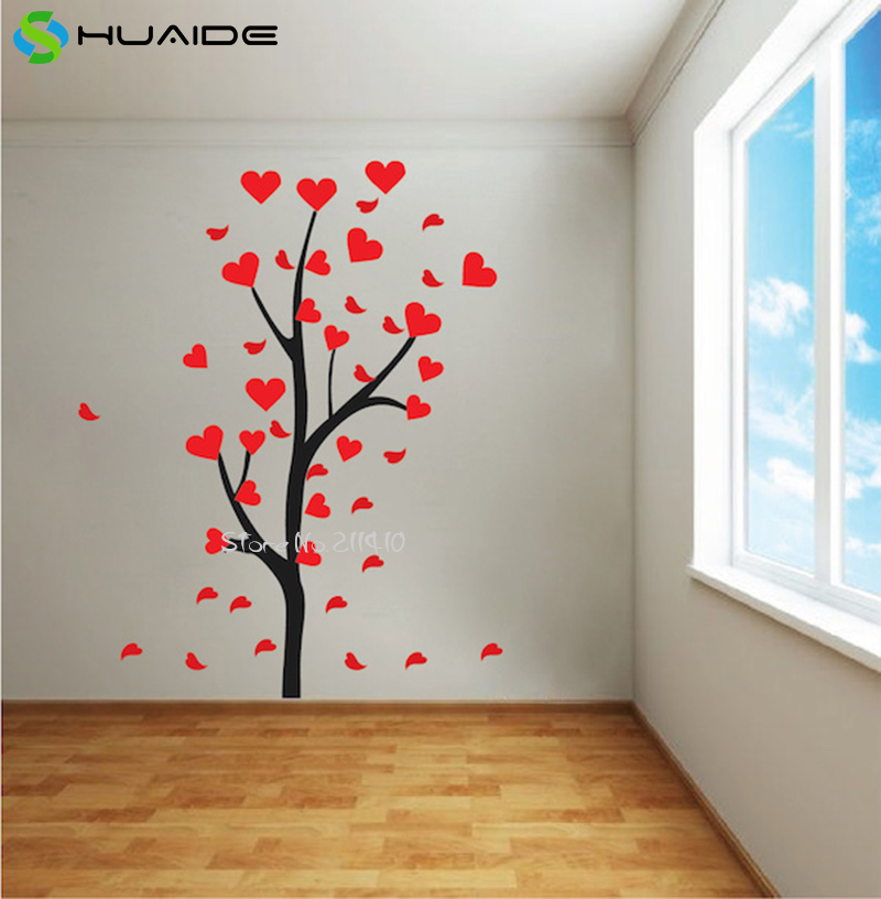 Heart Tree Branch Decal Custom Color Removable Vinyl Large ...