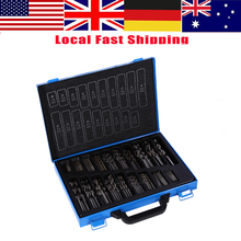 цена на 1 Set of 170pcs HSS Twist Drill Bit Engineering Drill Set 1 - 10mm Accuracy 4241 High Speed Steel Drill Bits with Case