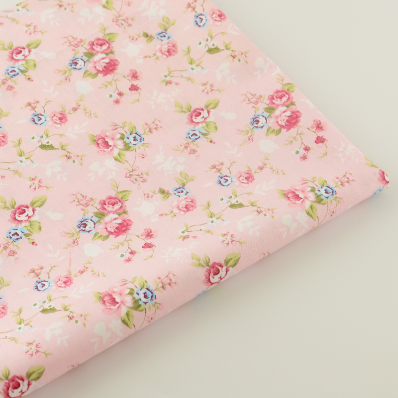 Fabrics Home Textile Pink Printed Floral Designs 100
