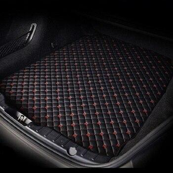 Custom Car trunk mats for Volkswagen vw tiguan golf mk7 7 4 6 gti touareg passat b7 accessories Cargo Liner Boot Carpet