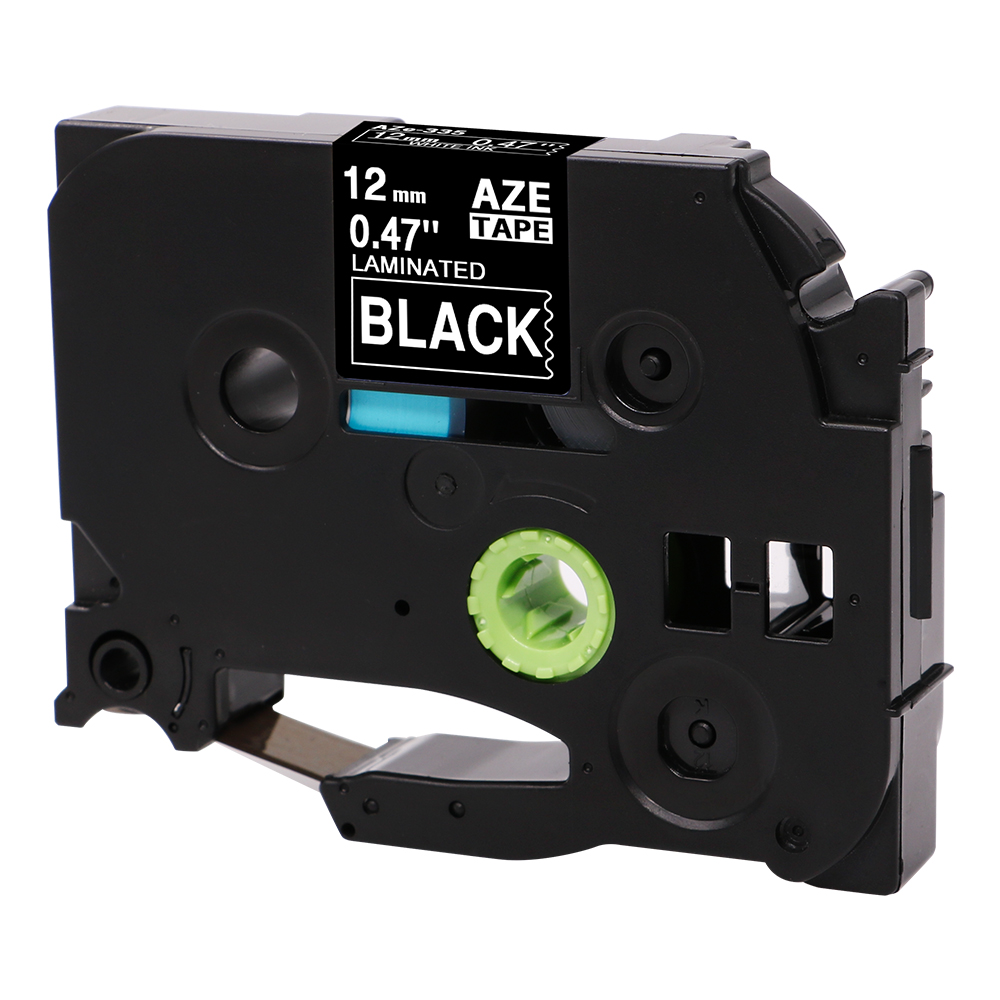 10 Packs TZe 335 Compatible with Brother Label Tapes TZ335 TZe 335 P Touch 0 47 Inch 12mm x 8m 26 2ft White on Black in Printer Ribbons from Computer Office