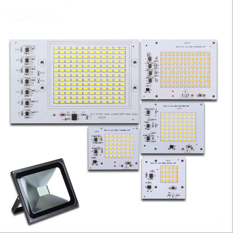 <font><b>LED</b></font> COB Bulbs <font><b>Chip</b></font> Lamp 220V <font><b>90W</b></font> 50W 30W 20W 10W 5730SMD Input Smart IC Driver Fit For Outdoor Flood Light Spotlight DIY image