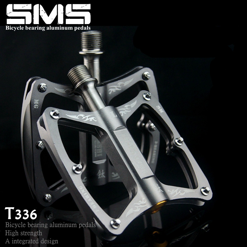 mountain bike pedals Pedal de bicicleta alloy Titanium/Aluminum alloy mtb road bicycle pedal cycling parts Outdoor Sports mountain road bicycle pedals bearing pedal mtb ultralight aluminum bicicleta accessories cycling pedals
