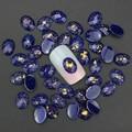 10 unids/lote 3D Dark Purple Joyería Decoraciones Del Arte Del Clavo Clavos Turquesa Resina Taladro DIY Accesorios Para Uñas de Gel Diseño PJ187