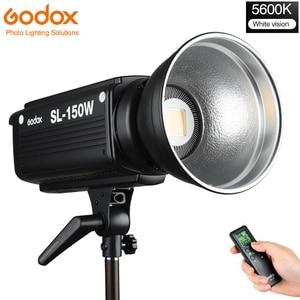 Image 1 - Godox SL 150W 150 ワット 5600 18K CRI 93 + 16 チャンネル LED スタジオ連続ビデオライト Bowens 一眼レフカメラ用カメラとリモコン