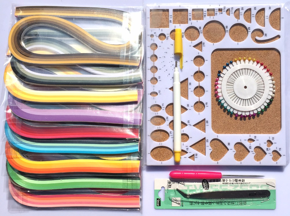 Nouveau papier quilling Kits Avec Moule conseil/54 CM Quilling papier 900 Bandes/Quilling stylos et outils/album embellissements