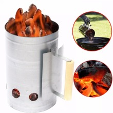 Free Shipping Charcoal Chimney Starter BBQ Barbecue Smoker Grill Fast Fire Handle Camp Outdoor