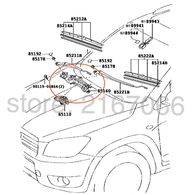 2010 toyota rav4 parts diagram