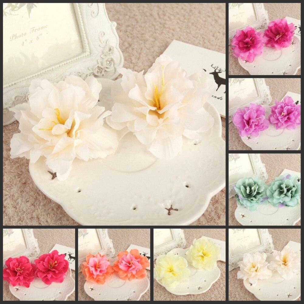 50ks * 3.15 palce (8 Cm) Umělý hedvábný květinový květ Domácí zahradní dekorace Party a svatební laskavosti AFH50056