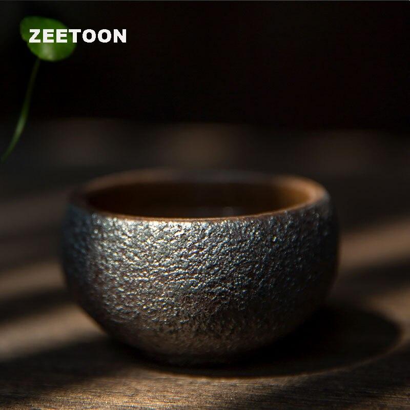 Vintage Pottery Rust Glaze Teacups
