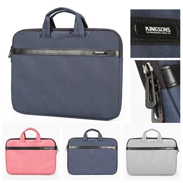 Kingsons 11 13 14 15 Inch Laptop Sleeve Bag for Men and Women Business Laptop Handbag Notebook Bag Large Capacity Grey Blue Pink