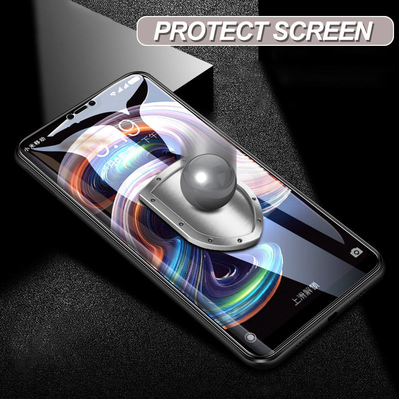Image 4 - Protective Glass on the For Xiaomi Redmi 6 Pro 6A 5 Plus S2 5A Redmi Note 5 5A 6 Pro 7 Tempered Screen Protector Glass Film Case-in Phone Screen Protectors from Cellphones & Telecommunications
